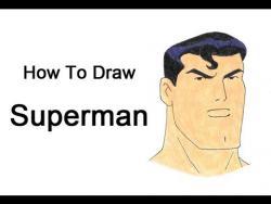 Как нарисовать Супермена из анимационного сериала Лига справедливости видео урок