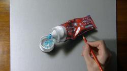 Как нарисовать тюбик пасты в 3D видео урок