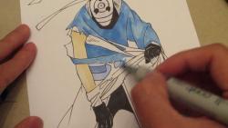Как нарисовать Тоби в полный рост из Наруто видео урок