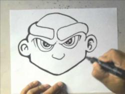Как нарисовать угрюмого человека в стиле графити видео урок
