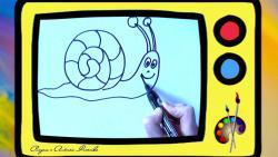 Как нарисовать веселую улитку ребенку видео урок