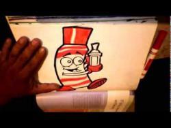 Как нарисовать забавный маркер в стиле граффити видео урок