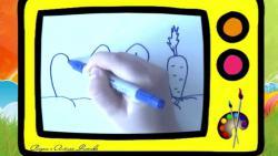 Как нарисовать зайчика ребенку видео урок
