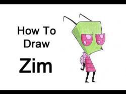 Как нарисовать Зама из мультфильма Завоеватель Зим видео урок