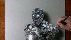 Как нарисовать железного человека в 3D видео урок