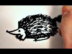 Как нарисовать ежика ребенку видео урок