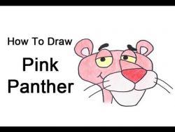 Как поэтапно нарисовать розовую пантеру видео урок