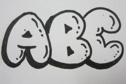 Как рисовать английские объемные заглавные буквы видео урок