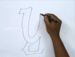 Как рисовать граффити букву Y карандашом видео