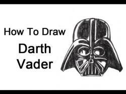 Как шаг за шагом нарисовать Дарта Вейдера из Звездных воин видео урок