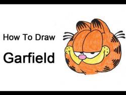 Как шаг за шагом нарисовать Гарфилда видео урок