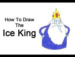 Как шаг за шагом нарисовать Ледяного короля из Времени приключений видео урок