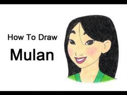 Как шаг за шагом нарисовать Мулан видео урок