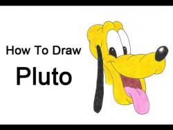 Как шаг за шагом нарисовать Плуто видео урок