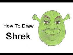 Как шаг за шагом нарисовать Шрека видео урок