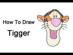 Как шаг за шагом нарисовать Тигра из мультфильма про Винни Пуха видео урок