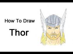 Как шаг за шагом нарисовать Тора видео урок