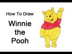 Как шаг за шагом нарисовать Винни Пуха видео урок
