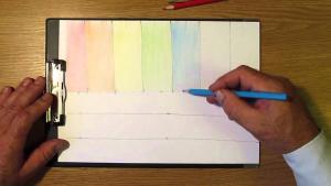 Способы штриховки цветными карандашами видео урок