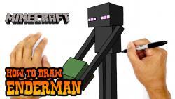 Видео урок: как нарисовать Эндермена из игры Minecraft
