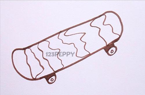 Как нарисовать Скейтборд карандашом видеоурок