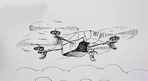 Как нарисовать Drone вертолет карандашом видео урок