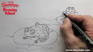 Как нарисовать двух Лягушек ребенку карандашом видео урок