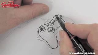 Как нарисовать джойстик от XBOX 360 карандашом видео урок