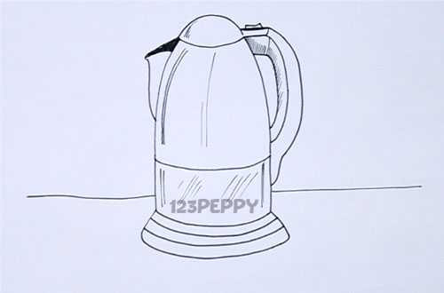 Как нарисовать Электрический чайник видеоурок
