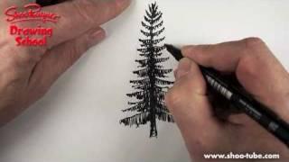 Как нарисовать Елку карандашом видео урок