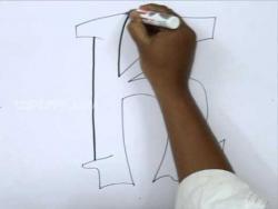 Видео как нарисовать граффити букву K карандашом