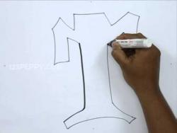 Видео как нарисовать граффити букву T карандашом