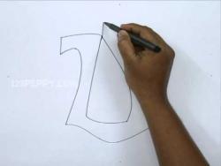 Видео как нарисовать граффити букву U карандашом