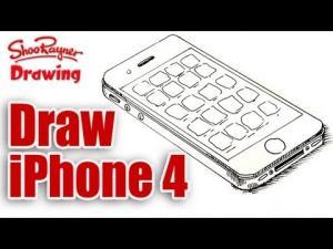 Видео как нарисовать iPhone 4 карандашом