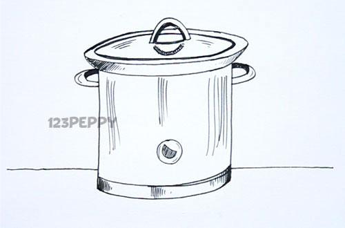Как нарисовать Кастрюлю карандашом видеоурок