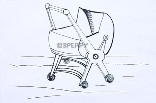 Как нарисовать Коляску карандашом видеоурок