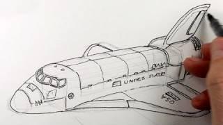 Как нарисовать космический корабль карандашом видео урок