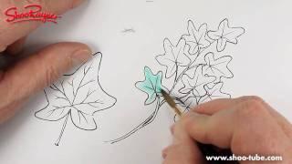 Как нарисовать листья плюща карандашом видео урок