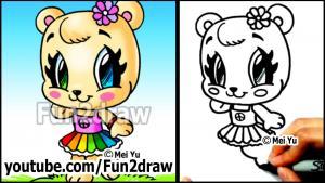 Видео как нарисовать медвежонка карандашом в стиле Chibi