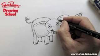 Как нарисовать милого Слоненк ребенку карандашом видео урок