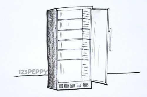 Как нарисовать Морозильную камеру видеоурок