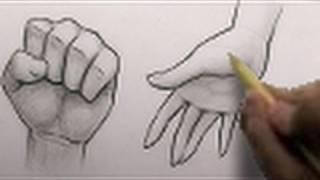 Как нарисовать мужской кулак и женскую руку карандашом видео урок
