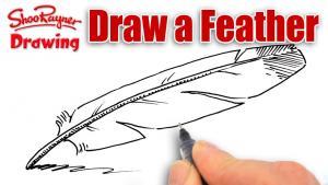 Видео как нарисовать перо карандашом на бумаге