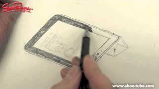 Как нарисовать Планшет iPad 2 карандашом видео урок