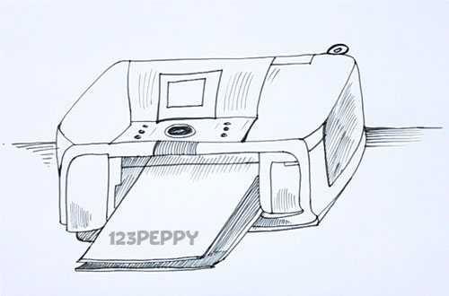 Как нарисовать Принтер карандашом видеоурок