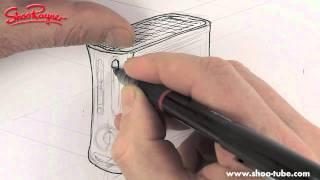 Как нарисовать приставку XBOX 360 карандашом видео урок