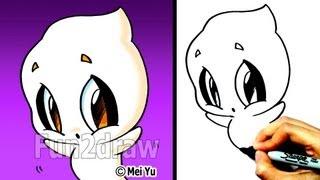 Как нарисовать Привидение в стиле Chibi карандашом видео урок