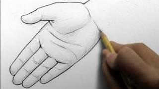 Как нарисовать реалистичные руки карандашом видео урок