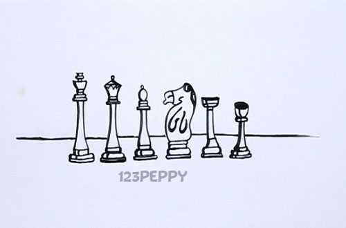 Как нарисовать Шахматные фигуры видеоурок