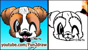 Видео как нарисовать щенка карандашом в стиле Chibi